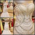 Nouvelle arrivée perlée sweetheart sirène bon marché bling robes de mariée CWFaww1991