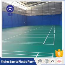 Orgânica e 100% puro PVC virgem matérias-primas pvc esporte piso fábrica