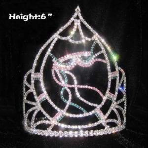 6inch Custom Mardi Gras Crystal Pageant Crowns