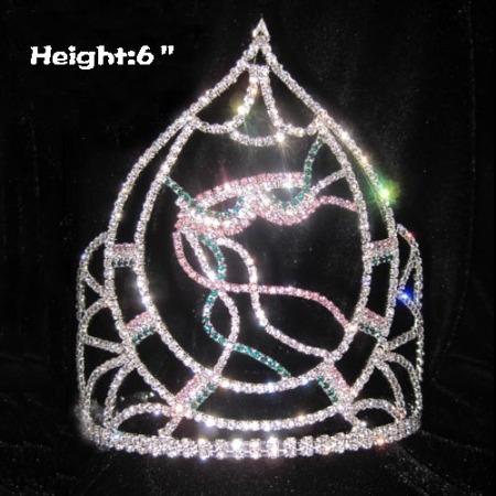 Coronas de cristal de Mardi Gras personalizadas de 6 pulgadas