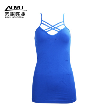 Mujeres corriendo chaleco Fitness Tank Top inconsútil