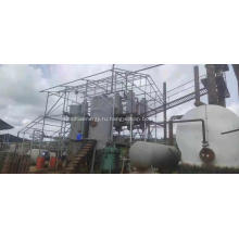 Рециркуляционная перегонная установка для переработки отработанного масла
