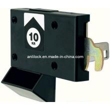 Cerradura de monedas, cerradura del gabinete del supermercado, cerradura de los muebles (AL2105)