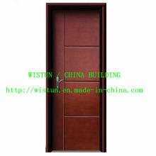 0,5 mm Nouvelle porte en acier intérieur en bois