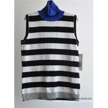 Fashion Turtleneck Sleeveless Knit Women Sweater