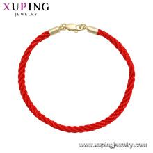75555 xuping dernière mode haute qualité avec bracelet unisexe plaqué or 14k