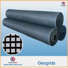 Plastic PP HDPE Pet Fiberglass Geogrids