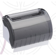 Decorative Hotel Public Toilet Wholesale Dark Translucent Round Plastic Wall Mounted Tissue Paper Towel Dispenser