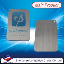 Aluminio cepillado impresión logo metal emblemas al por mayor