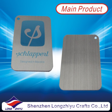 Aluminum Brushed Printing Logo Metal Emblems Wholesale