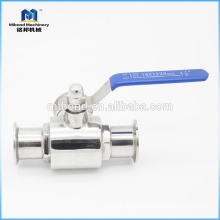 "Hot Selling 2 way Tri-clamp 1/2"" bsp stainless ball valve"
