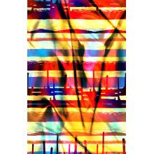 Tissu imprimé par couleur lumineuse pour le tissu de maillots de bain (ASQ077)
