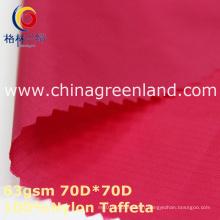 Tissu imperméable de plaid en nylon pour le textile de Sportwear (GLLML357)