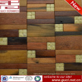 2016 new design hot sale shop wall mixed wood mosaic tile marble