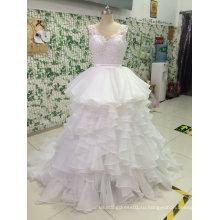 Бальное платье шифон кружева тюль свадебное платье с V-образным вырезом