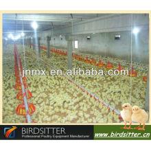 Le poulet professionnel et l'éleveur utilisent l'élevage de poulet