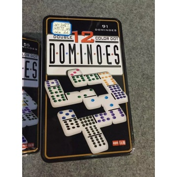 Conjunto de Dominoes Duplo 12