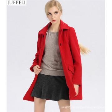 Neue Pendler Damen Kragen dünne 100% Wollmantel Frauen europäischen und amerikanischen Stil Zweireiher lange Wintermantel
