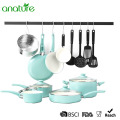 Pressed Home Use Ceramic Nonstick Cookware Set
