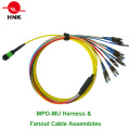 12 Cores MPO Mu Harness & Fan out Cable Assemblies
