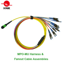 12 Cores MPO Mu Harness & Fan out Cable Assemblies