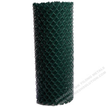 PVC Green Chain Link Fence Diamond Mesh