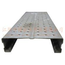 Planche d'échafaudage en acier perforé galvanisé