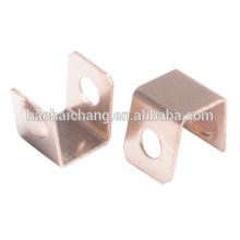 U Forma de aduana 1.0mm BeCu (cobre de berilio) Contacto Metralla