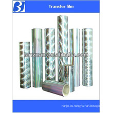 transparent holographic lamination film