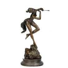 Decoración de música Estatua de bronce Lady Player Carving Bronze Sculpture Tpy-719