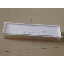 Mesa de luz blanca simple Acrylic Lip Balm Display Stand, tamaño personalizado 3Mm Cofre Display Stand