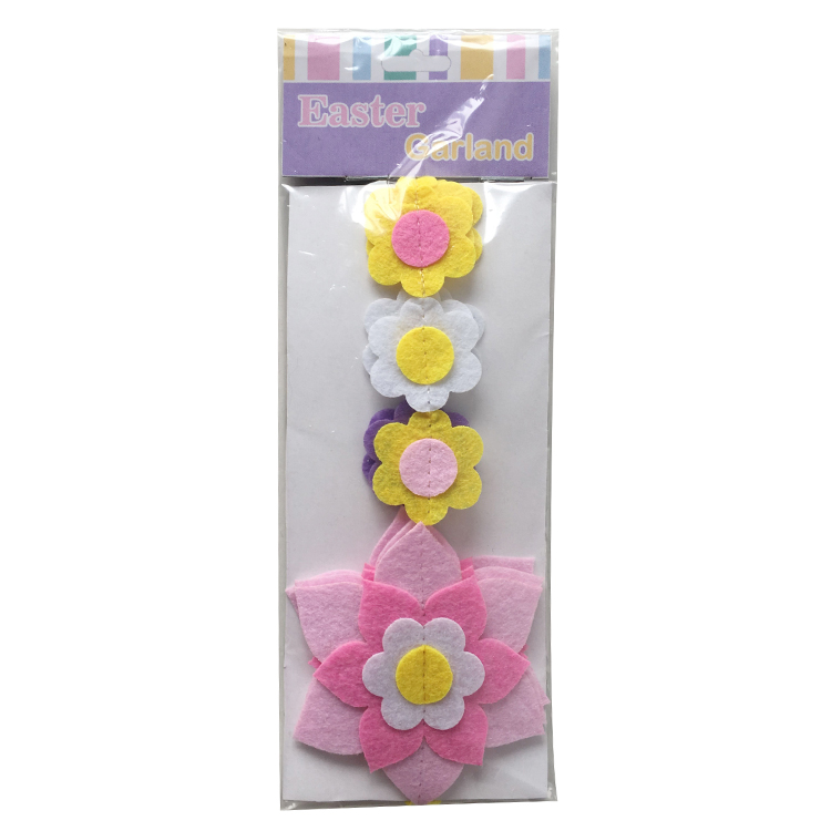 Easter Flower Bunting Flag