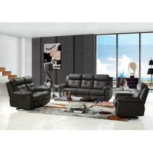 Black Genuine Leather Recliner Sofa for Wholesaler (437)