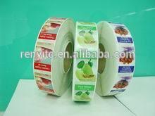 Printing personalized logo sticker labels,custom cosmetics jar stickers