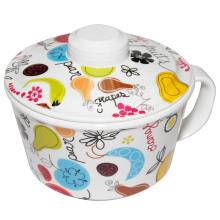 Vaisselle 100% en mélamine - bol à nouilles avec couvercle (GD635S) / vaisselle 100% mélamine