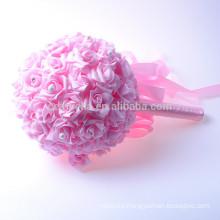 Romántico tacto artificial color hermoso ramo de flores de boda