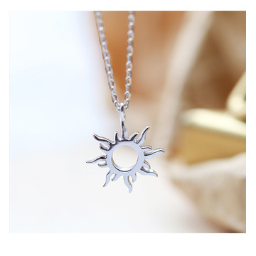 Charm Women Fashion Jewelry Silver Plate Ethnic Sun totem Pendent Necklace