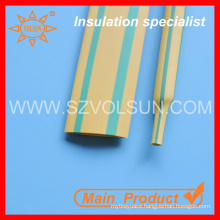 125 Degree Yellow Green Stripped Heat Shrinkable Sleeving