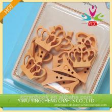 2016 Hangzhou Yiwu neue heiße Großhandel DIY niedlichen hölzernen Doppel Zinke buttons