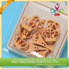 2016 hangzhou yiwu new hot wholesale DIY cute wooden double prong buttons