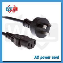 SAA Australia cable de alimentación de extensión de portátil estándar con conector C13