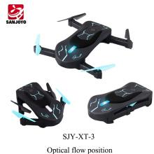 Original mini drone plegable abejón XT-3 WIFI selfie con control de APP de cámara de 0.3MP RC zumbido de despegue automático con luz led PK JY018