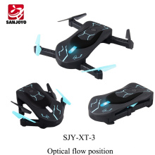 Original mini foldable drone XT-3 WIFI selfie drone with 0.3MP camera APP control Auto-takeoff RC drone with led light PK JY018