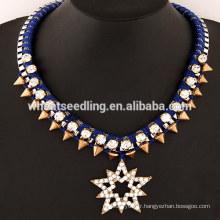 Collier de rivets à lucky star diamant d'exagération britannique
