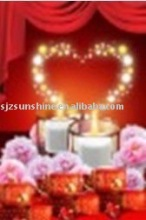 double happiness wedding candle