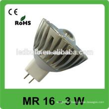 O alumínio MR 16 3w conduziu o produto o mais vendido da luz do ponto