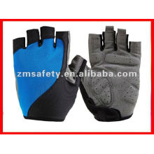 Gel padded short finger cycling glove
