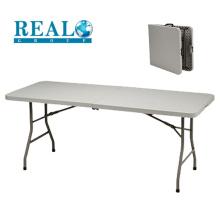 Popular al por mayor al aire libre 6FT plegable HDPE mesa de picnic de plástico