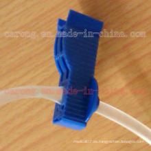 Clip de tubo médico de diálisis de plástico