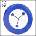 Round Geometry pin badge holder